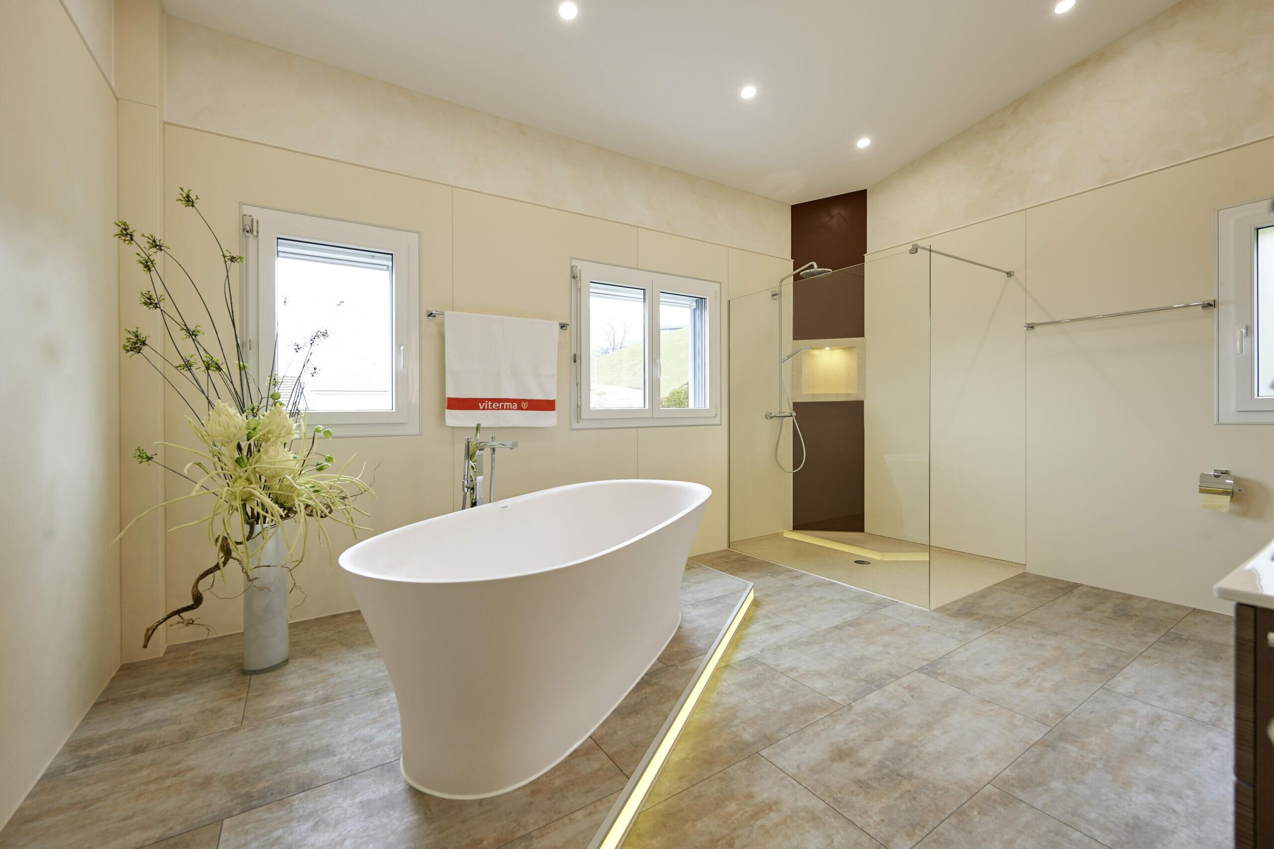 Badezimmer Ideen große Bäder